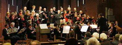 """Der Vokalkreis Münster singt Werke von Mozart (""""Missa solemnis in C"""") und Händel (Dettinger Te Deum)"""